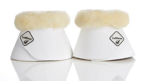 LeMieux WrapRound Lambskin Over Reach Boots White/Natural