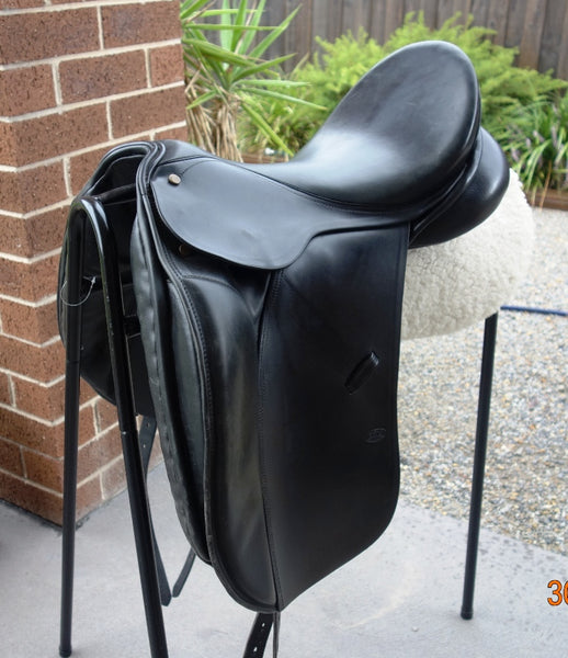 "16.5"" Bruce Smith Dressage Saddle Black MW"