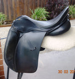 "SOLD...........16.5"" Bruce Smith Dressage Saddle Black MW"