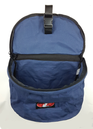 COLLAPSIBLE FEED BAG BLUE OR PURPLE