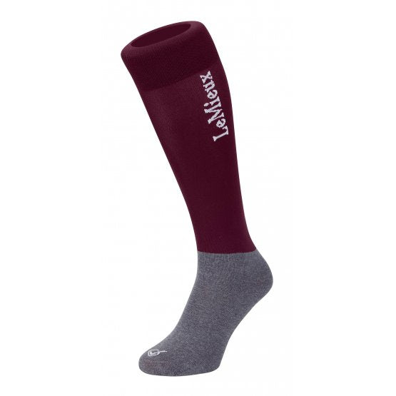 LEMIEUX COMPETITION SOCK BURGUNDY (TWIN PACK)