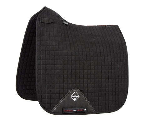 Luxury Suede Dressage Pad BLACK