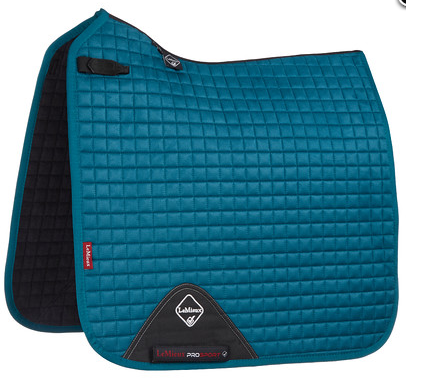 Luxury Suede Dressage Pad PEACOCK GREEN M & L