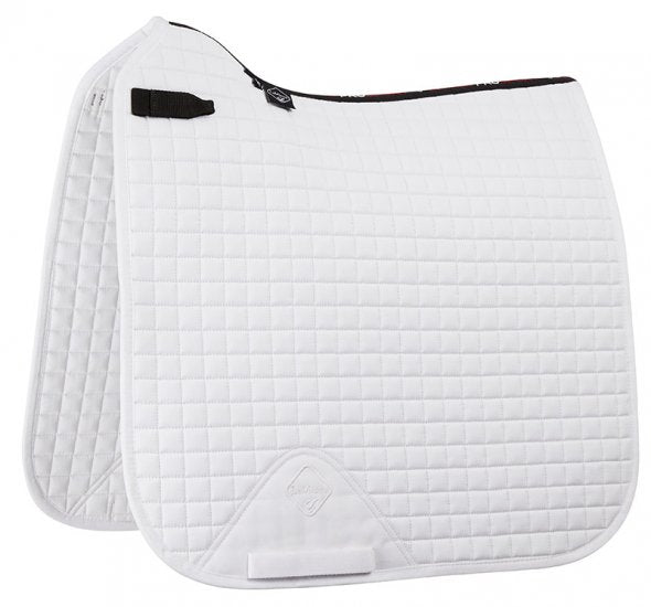 Luxury Suede Dressage Pad WHITE M & L