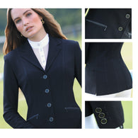 Huntington Nicky Kwik-Dry Ladies Riding Jacket - Navy