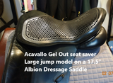 SEAT SAVER ACAVALLO GEL OUT 10MM S, M & L BLACK OR BROWN