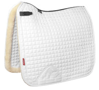 Merino + Sensitive Skin Dressage Square WHITE