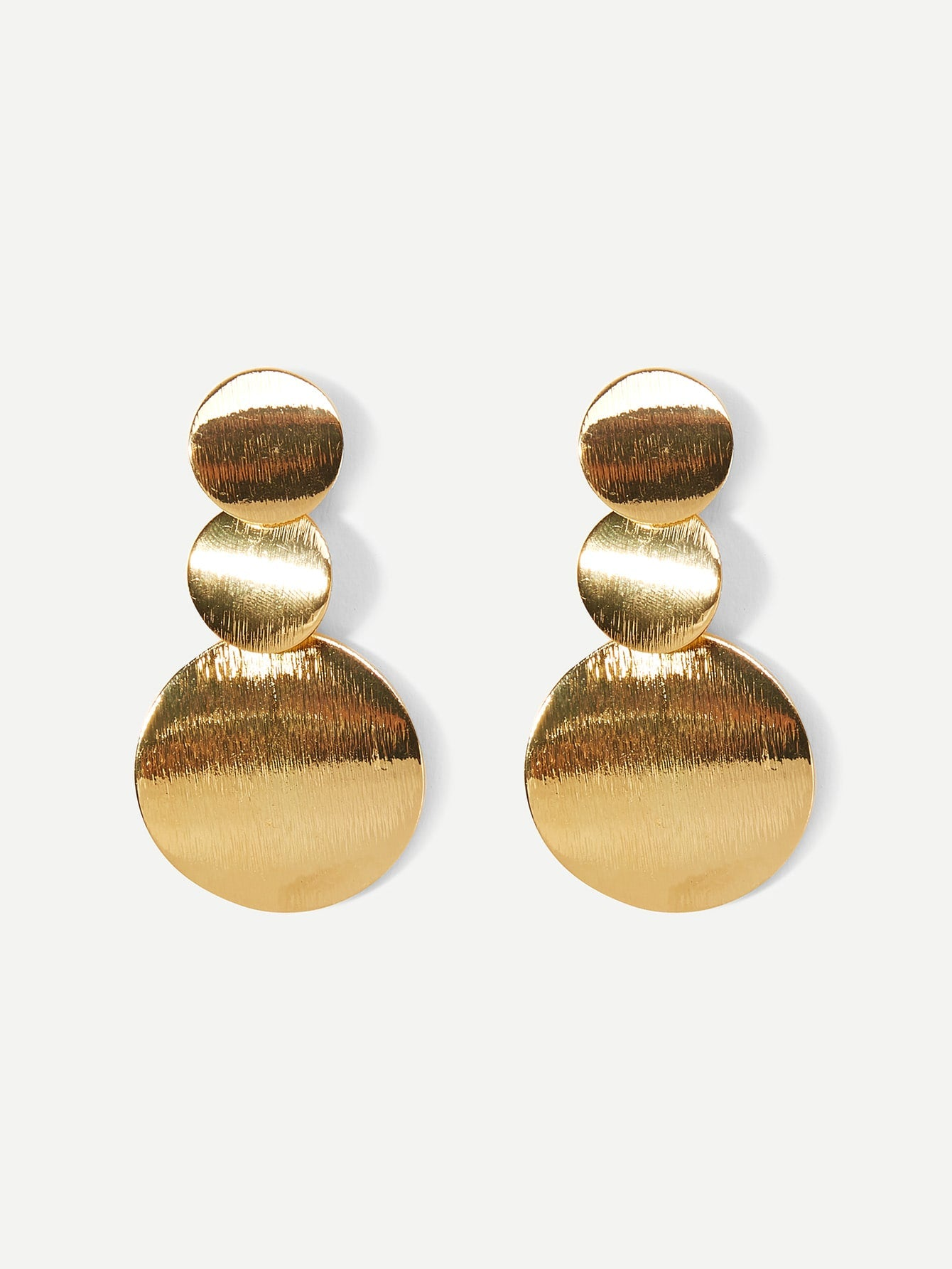 Layered Disc Drop Earrings