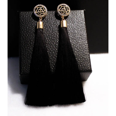Cora Earrings - Black
