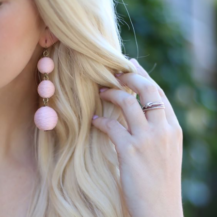 Gracie Earrings - Pink