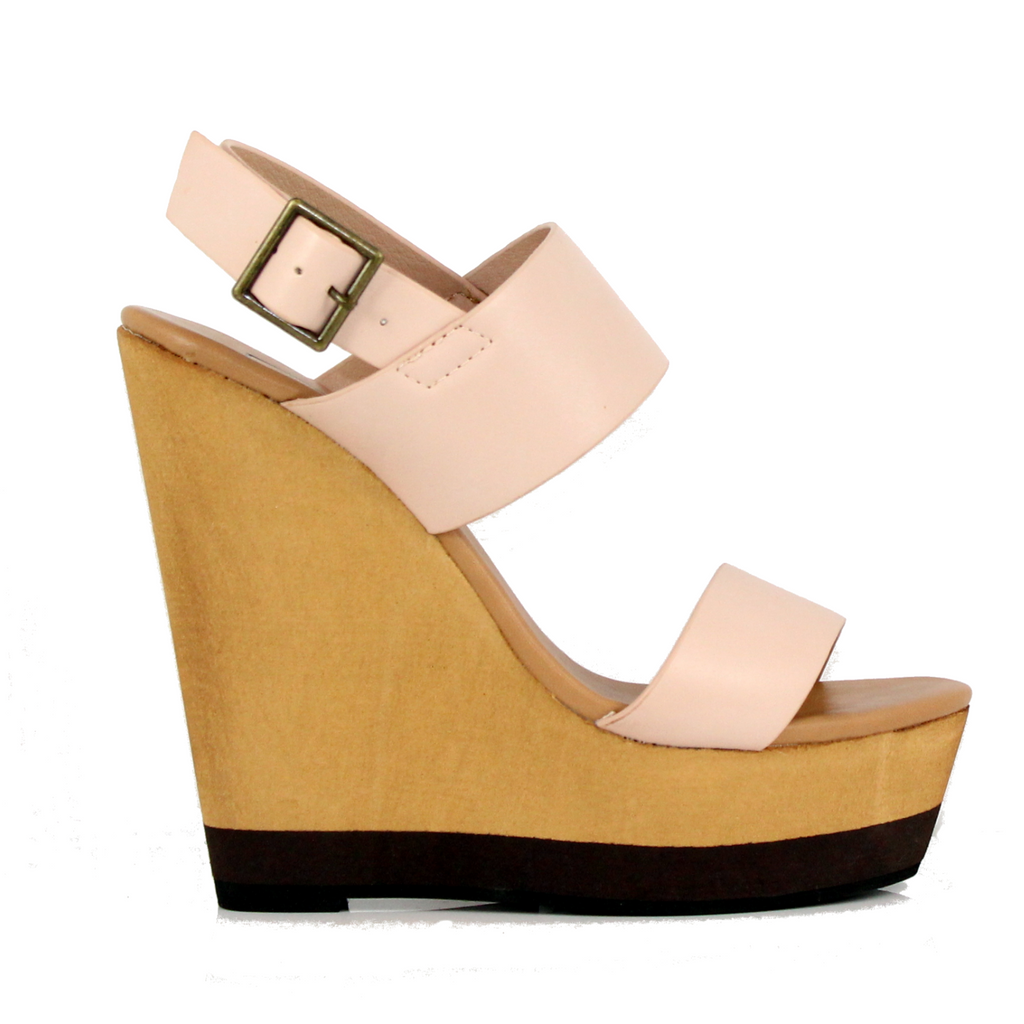 Joslyn - Nude, Wedge, Tranché Boutique, Tranché Boutique