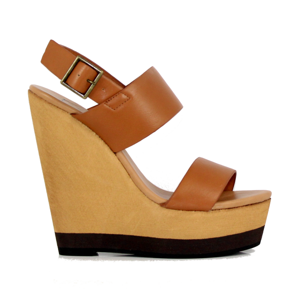 Joslyn - Tan, Wedge, Tranché Boutique, Tranché Boutique