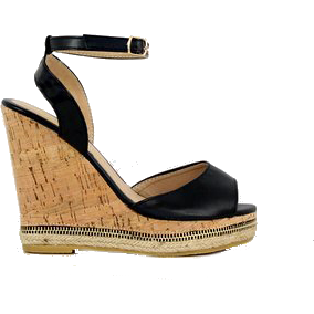 Kinsley - Black, Wedge, Tranché Boutique, Tranché Boutique