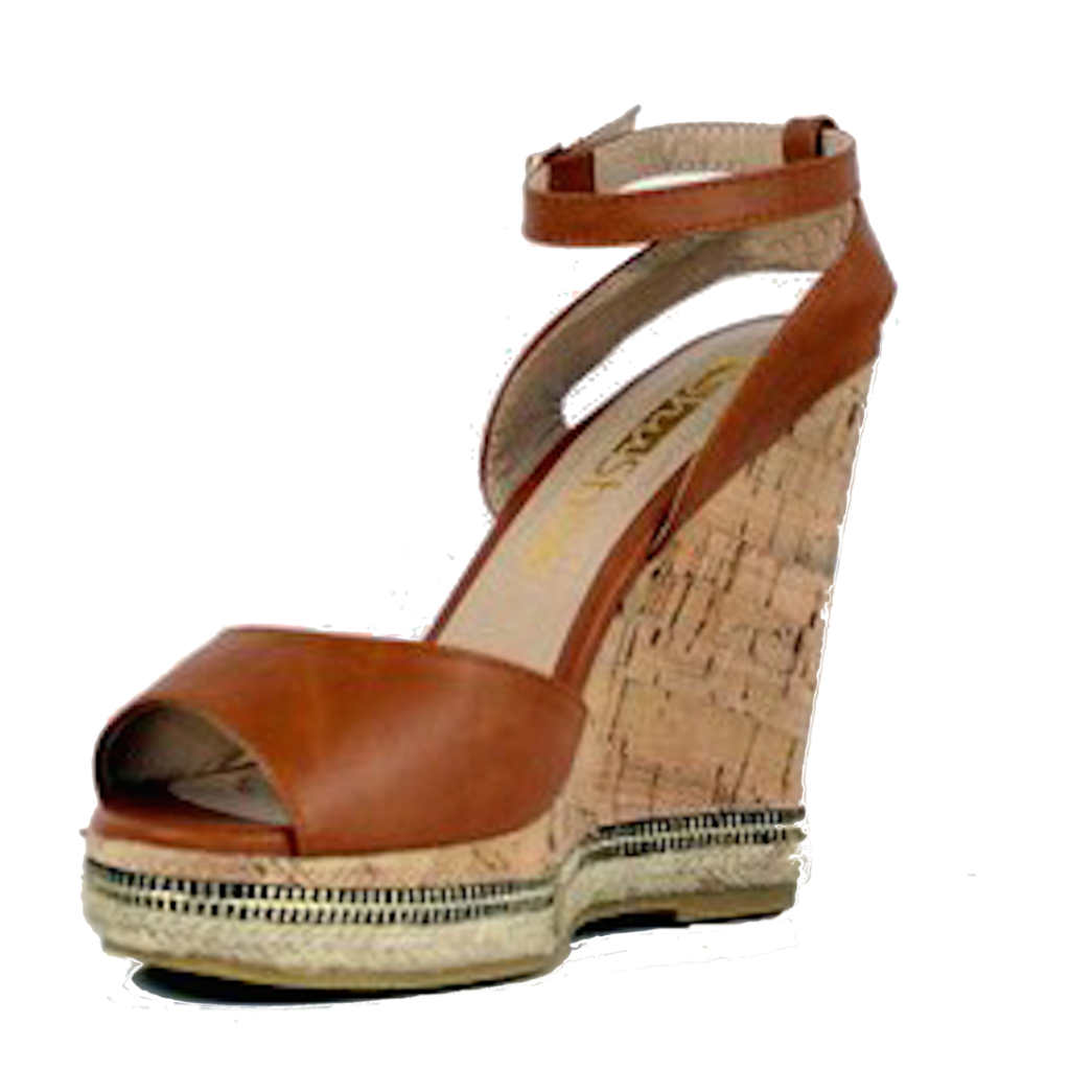 Kinsley - Tan, Wedge, Tranché Boutique, Tranché Boutique