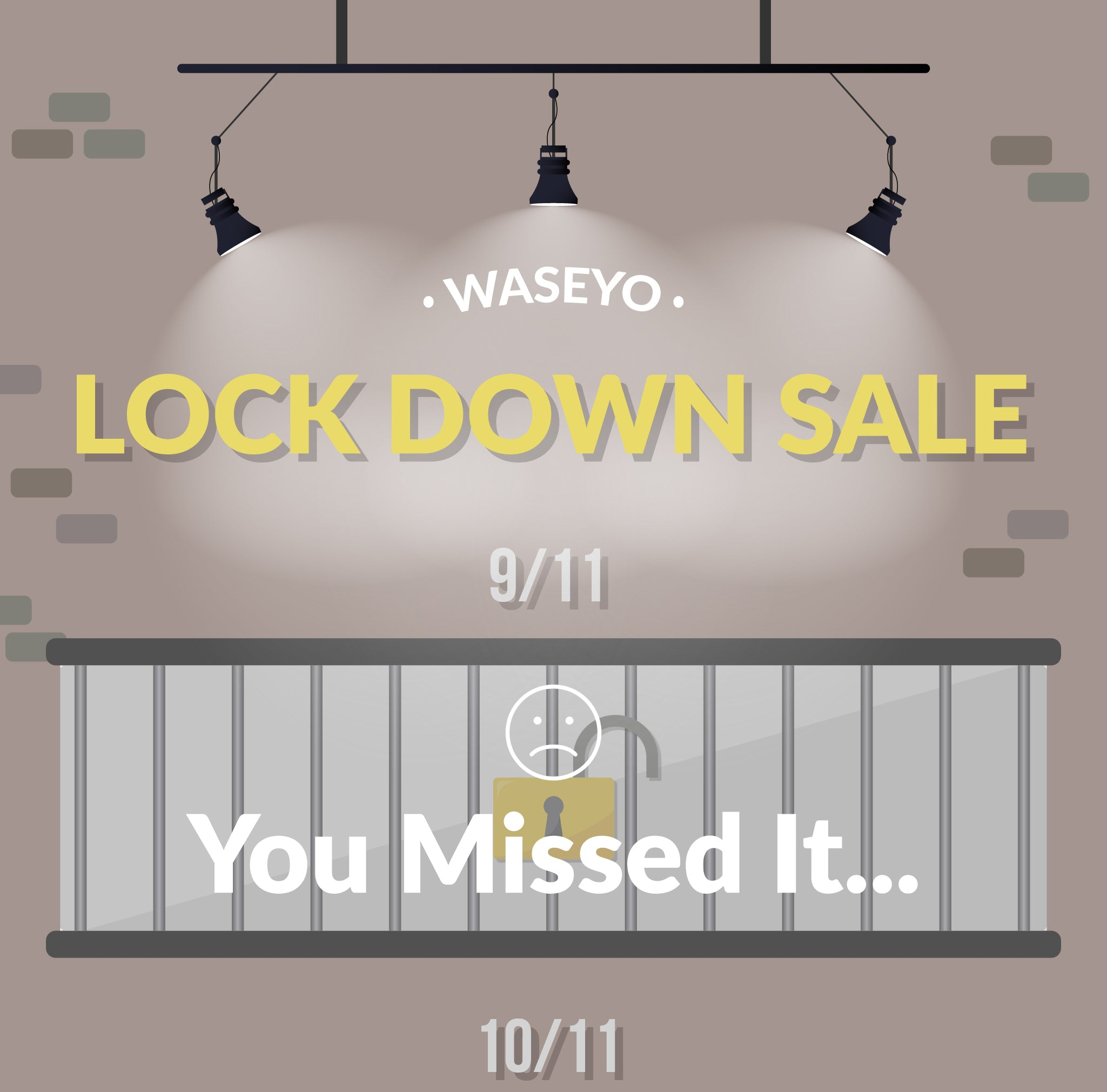 Waseyo 11.11 Lockdown Sale Day 2