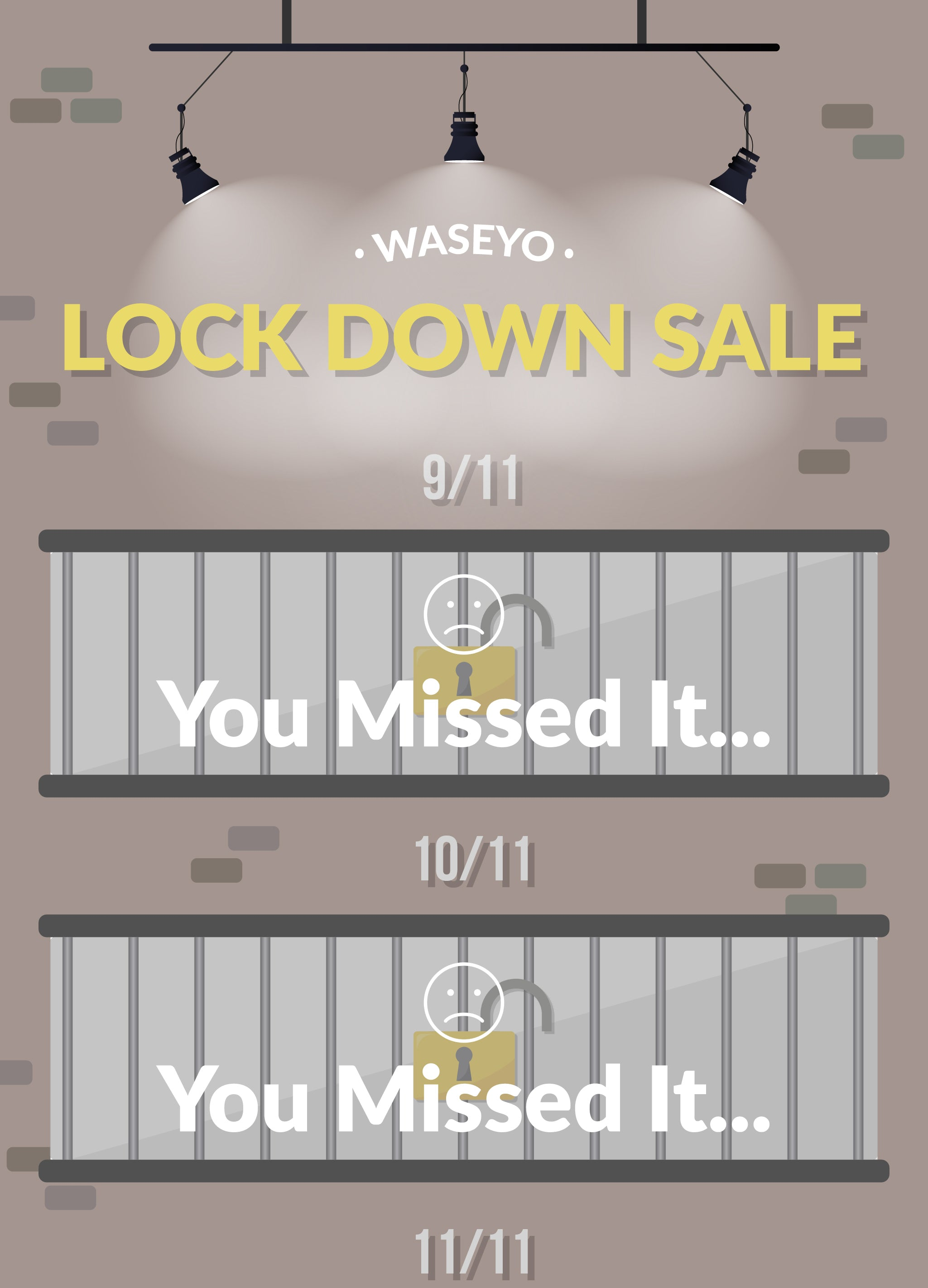 Waseyo 11.11 Lockdown Sale Day 3