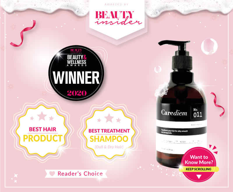 Beauty Insider Carediem Best Shampoo for Dry Damaged Hair Award 2020