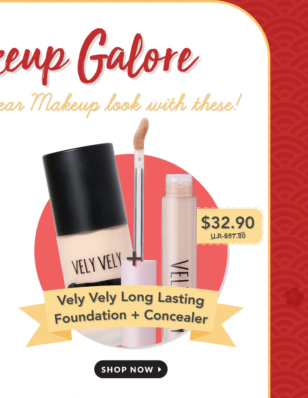 Vely Vely Long Lasting Foundation + FREE Concealer