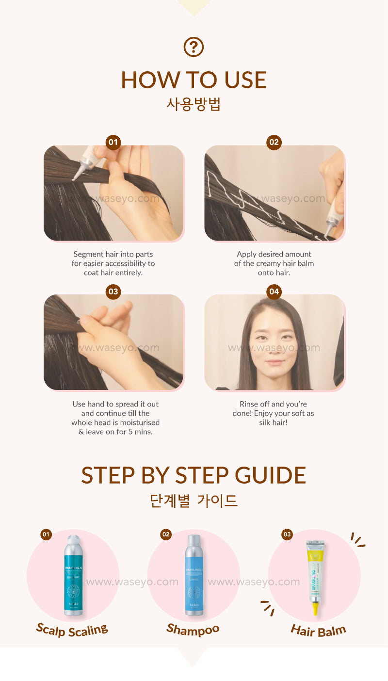Here is a step by step on how to use the Hair Balm! You can use it like a Hair conditioner! After shampoo apply an adequate amount on your hair and rince off after 5 mins!