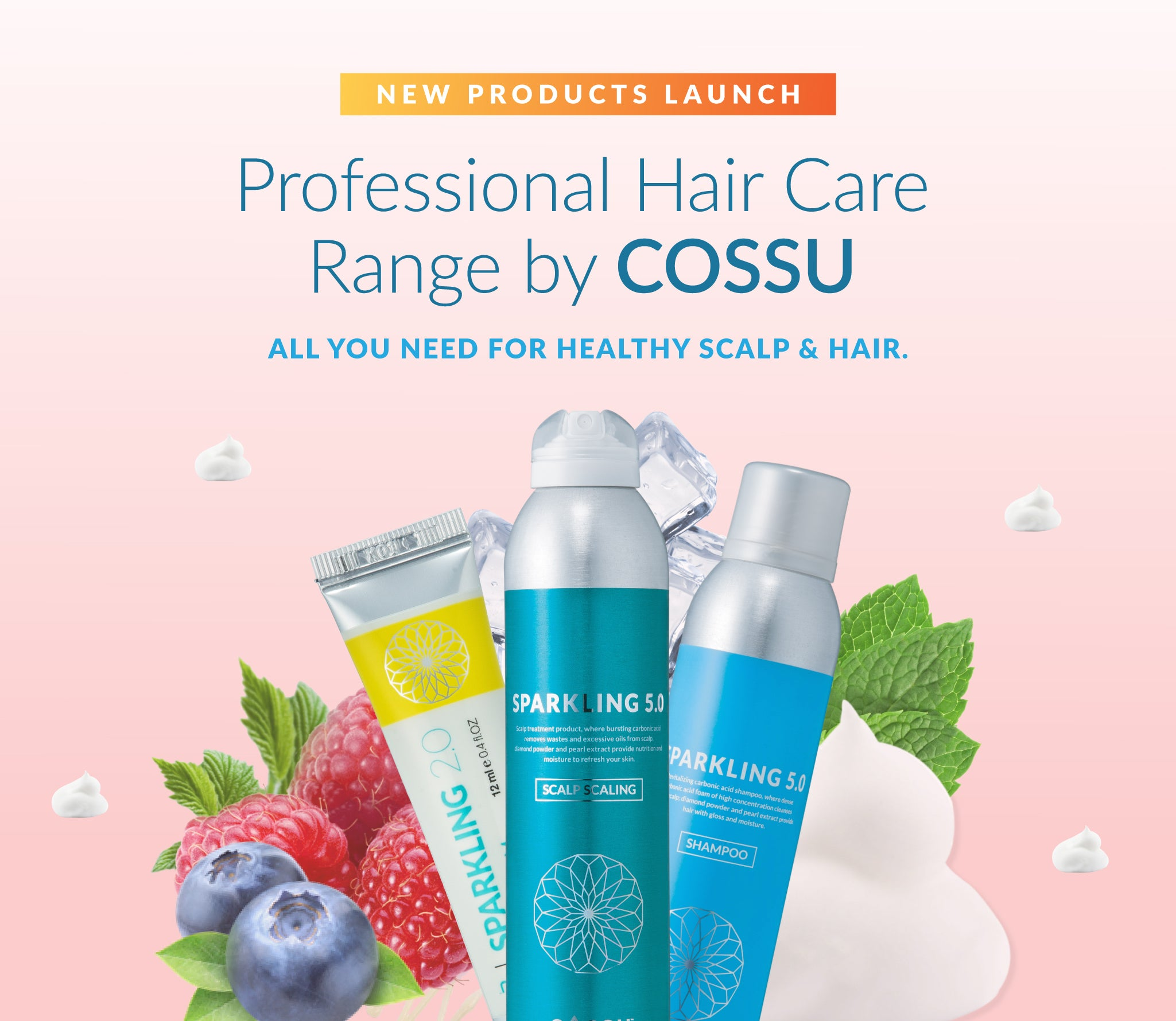Check out our latest launch by Cossu Professional Hair Care Range!