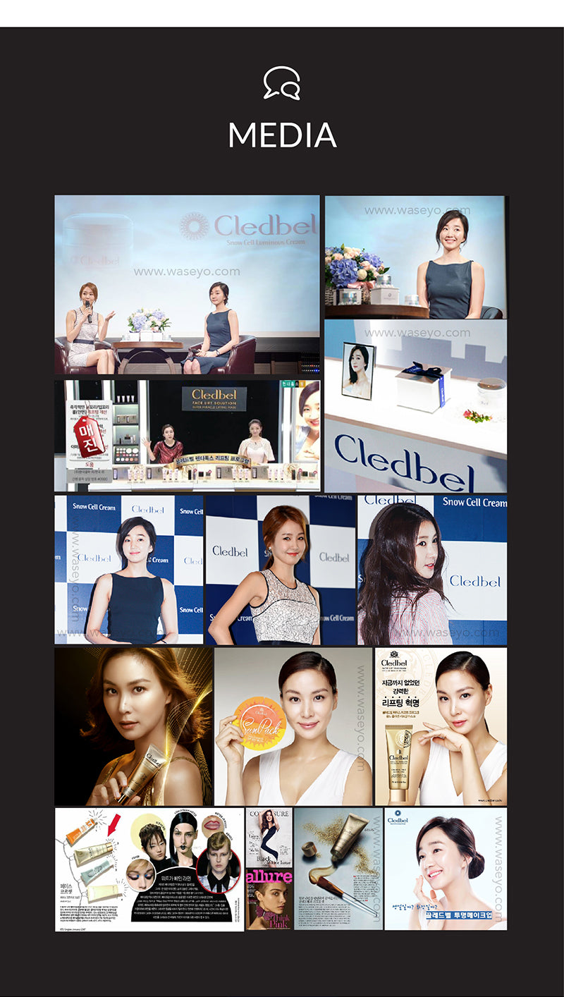 Used by Korean Celebrities like Ko So-Young, and So-ae. Featured in magazines like Allure, CLEO, and Cosmopolita in Korea