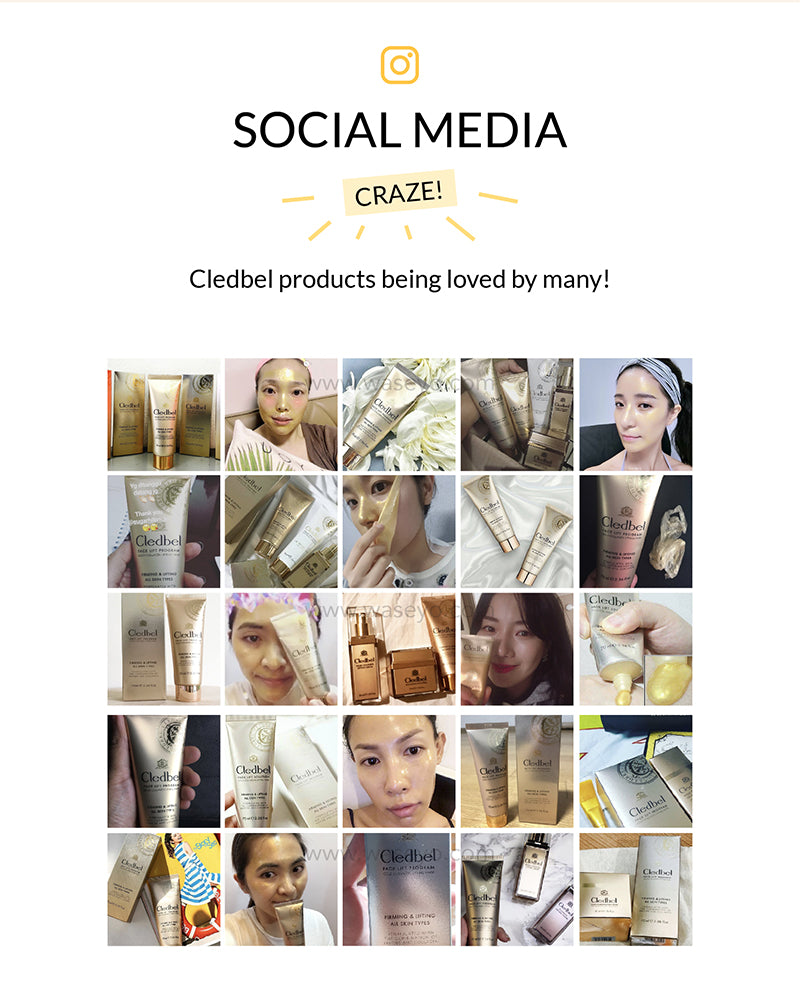 Cledbel gold lifting pack social media craze. Korea's most popular Gold Lifting Mask, and loved by many.