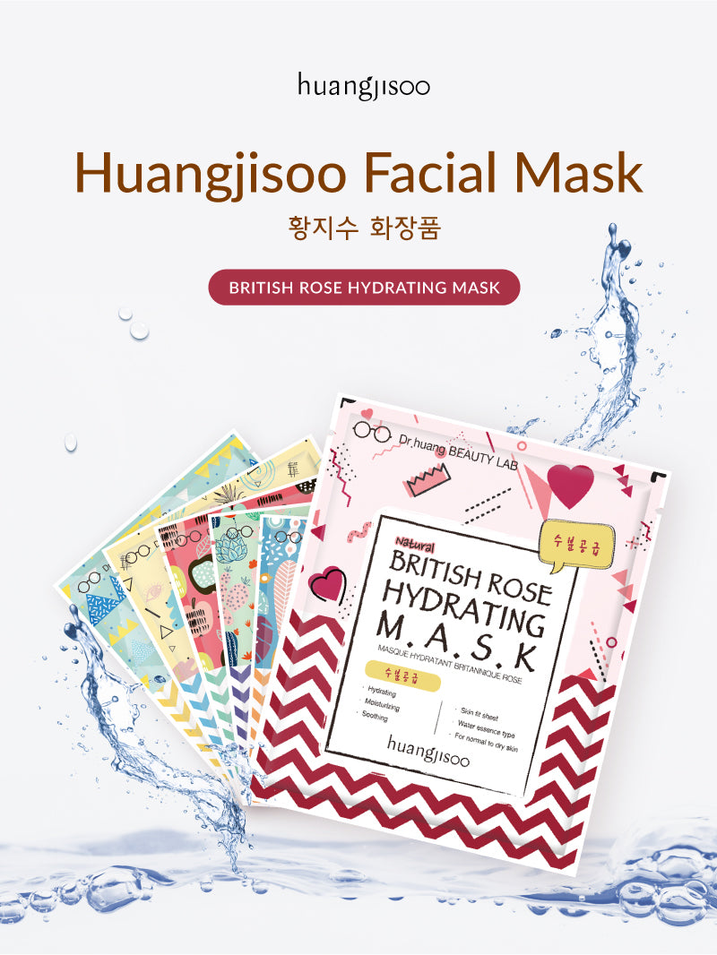 Huangjisoo British Rose Facial Mask Sheet! 6 different types of Face Mask