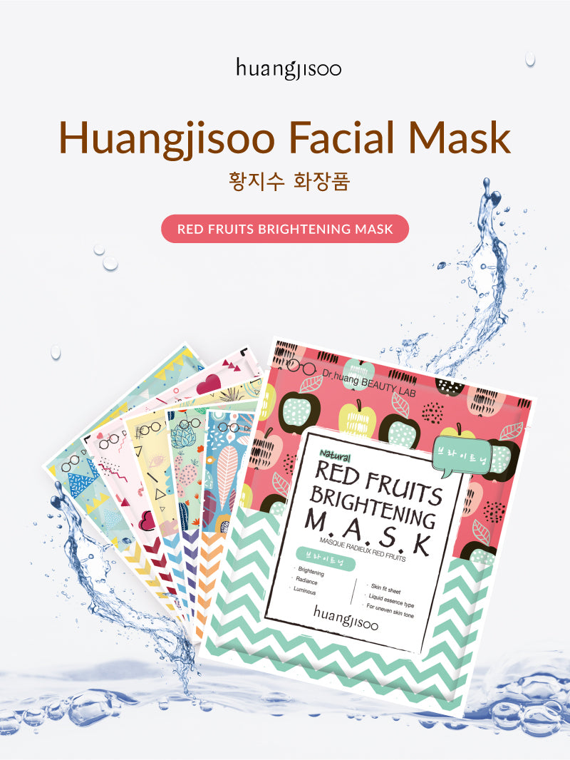 Huangjisoo Facial Mask Sheet Red Fruits Brightening Mask is made by Dr. Huang Ji Soo and is great for sensitive skin!