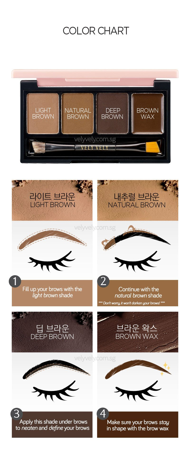 How to use Im Custom Brow Specialist to draw brows