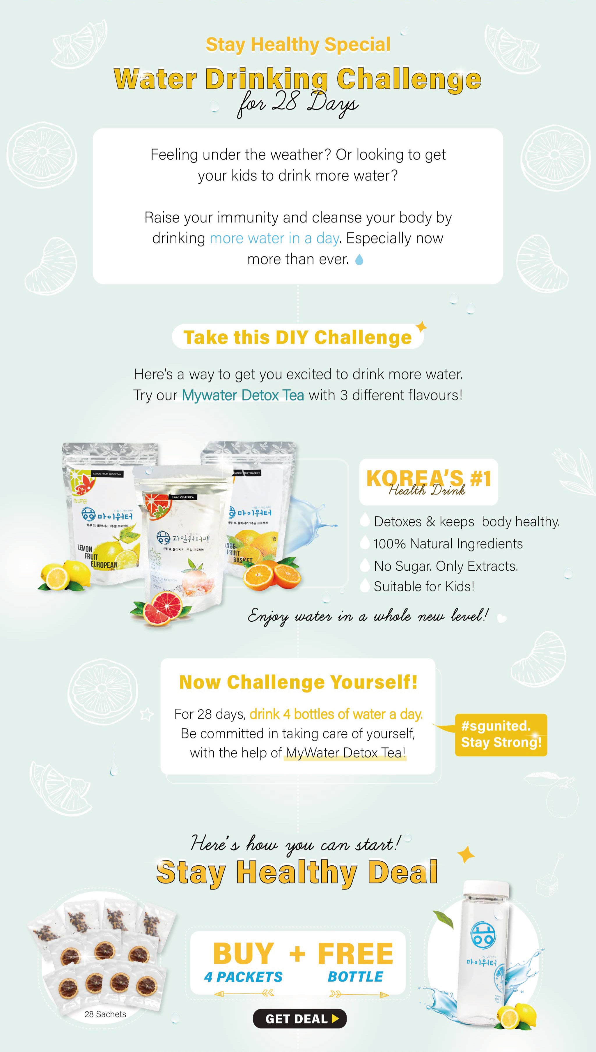 Take the Mywater Water Challenge today to stay healthy and detox your body!