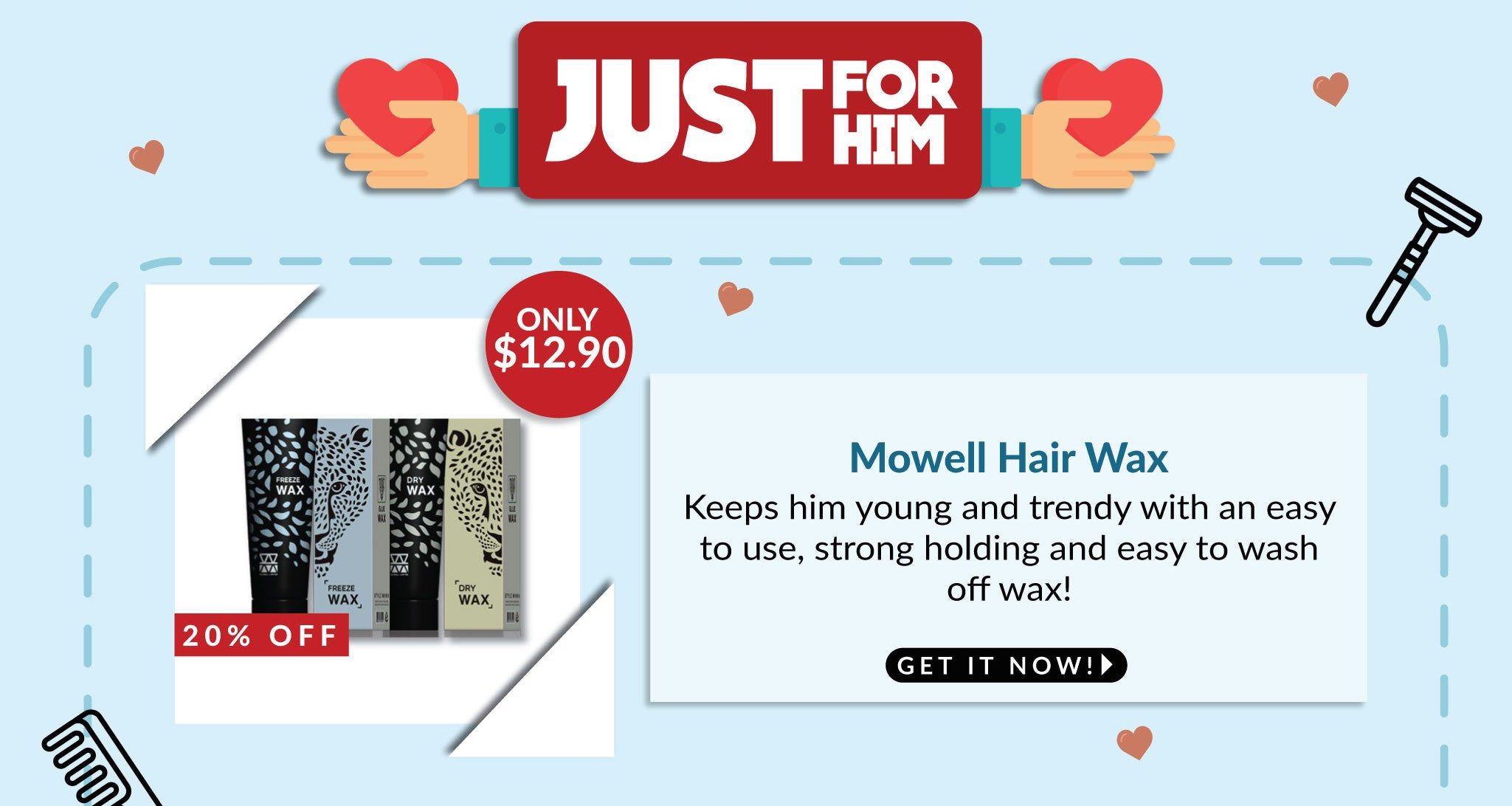 Mowell Hair Wax - 20% OFF