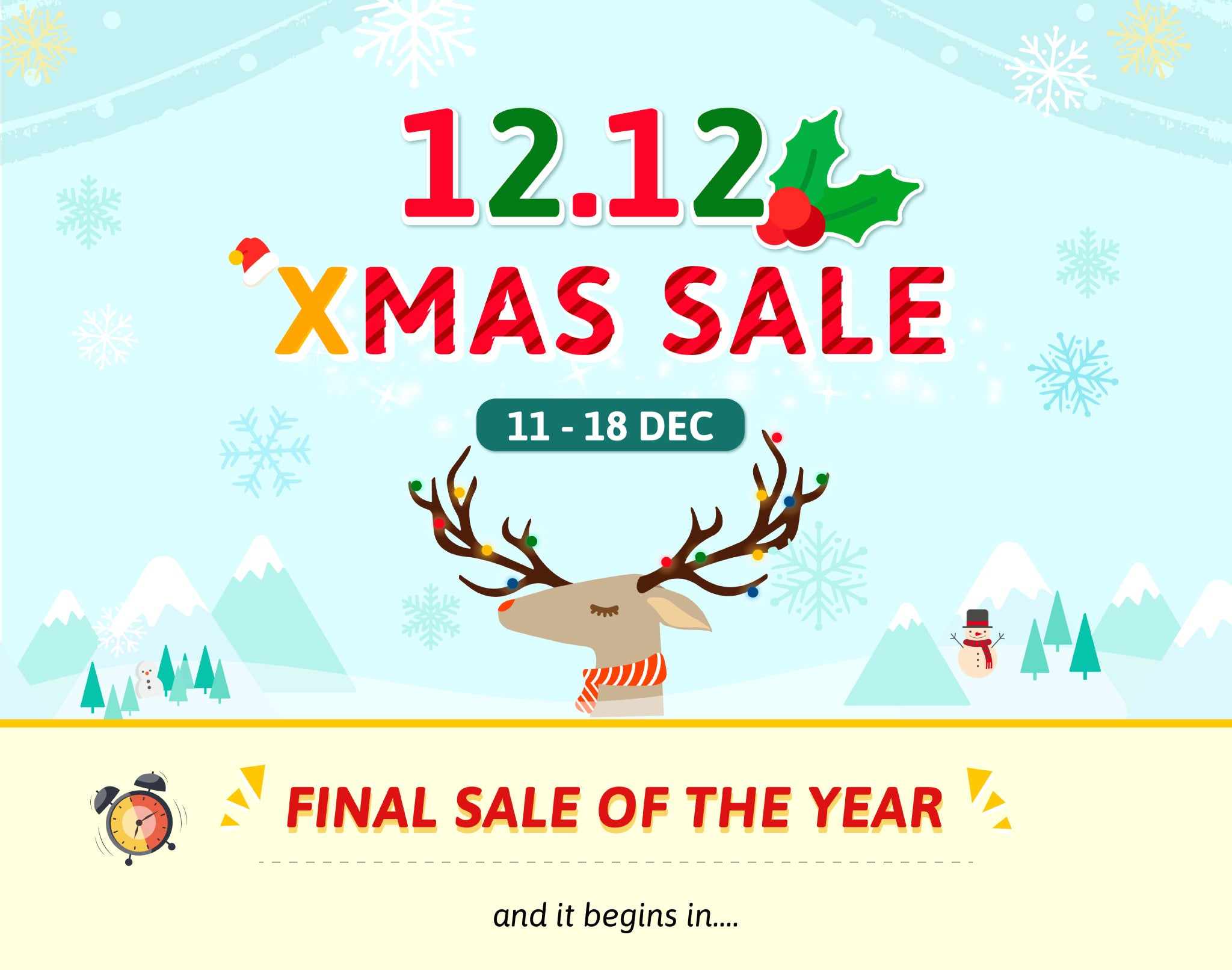 12.12 Xmas Sale Is Coming!