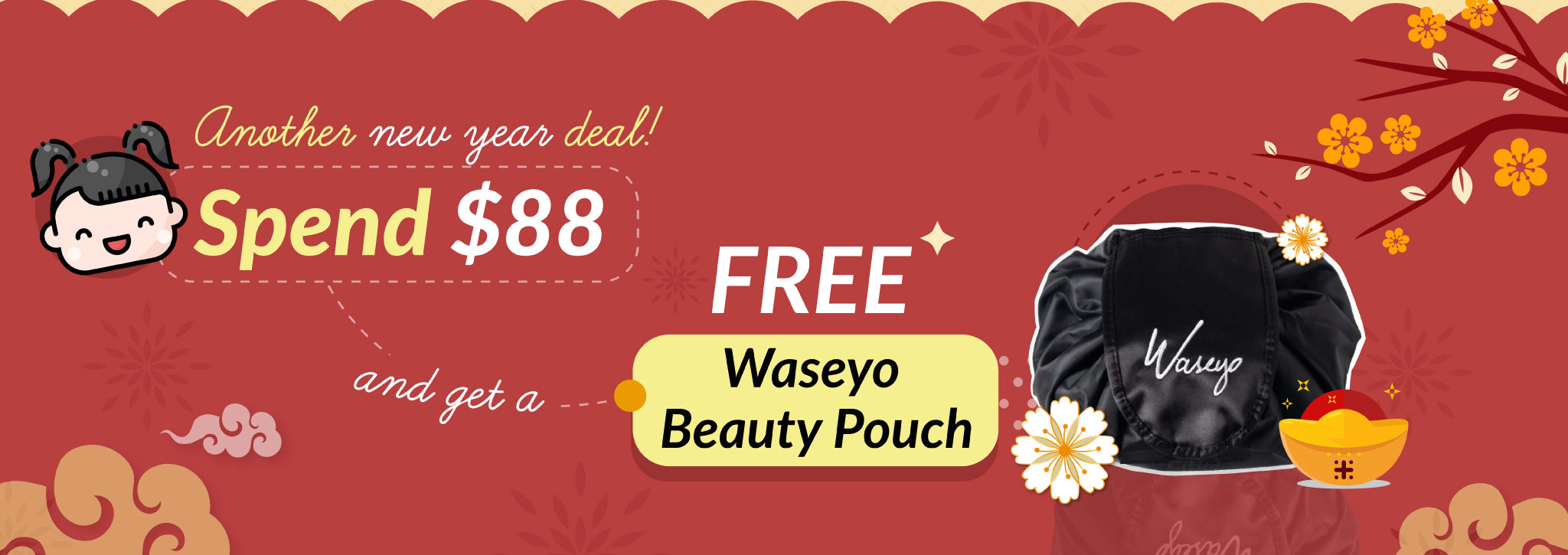 Get a FREE Waseyo Pouch with $88 Spent!