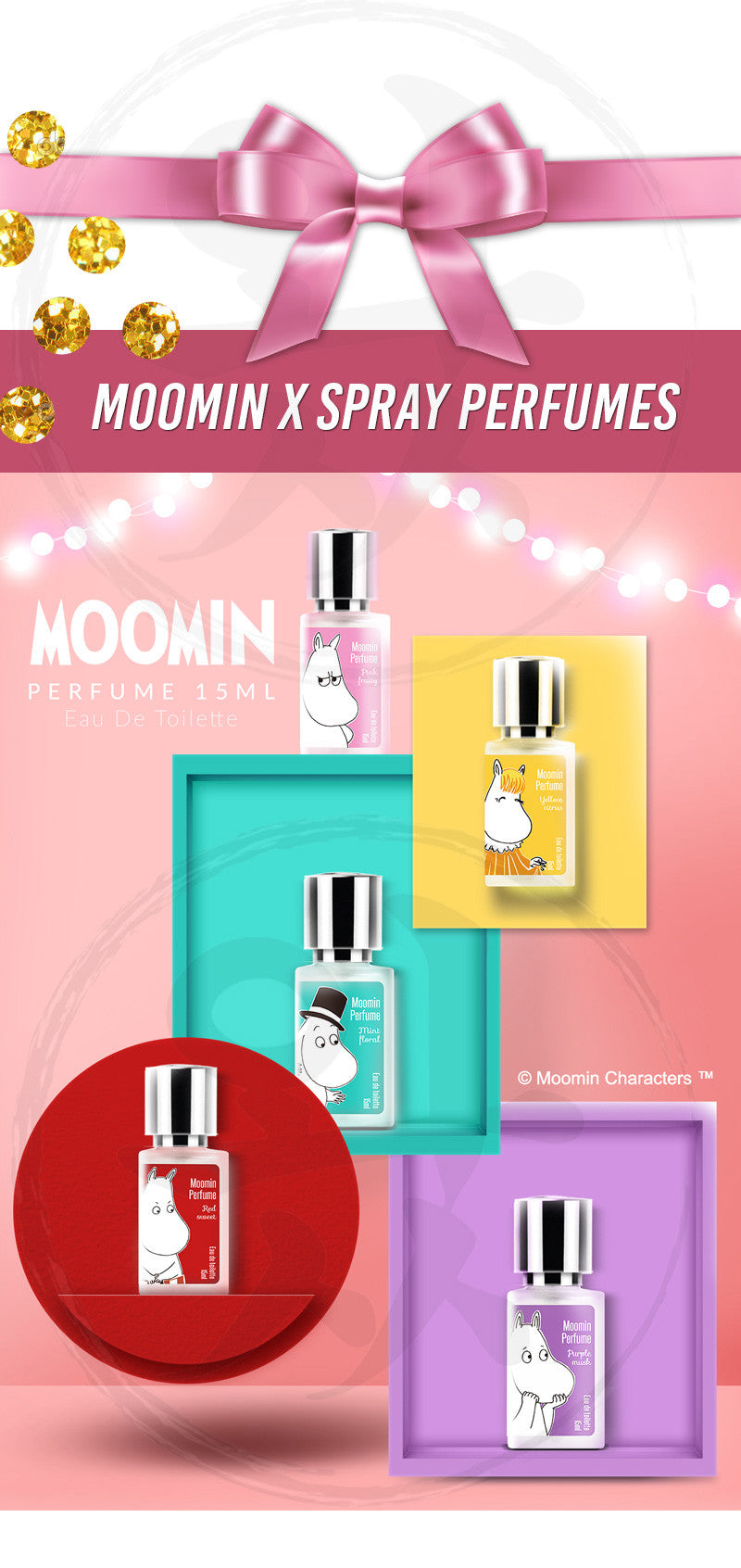 Check out our spray perfumes with the exact same scents from our Moomin Perfume Balms!