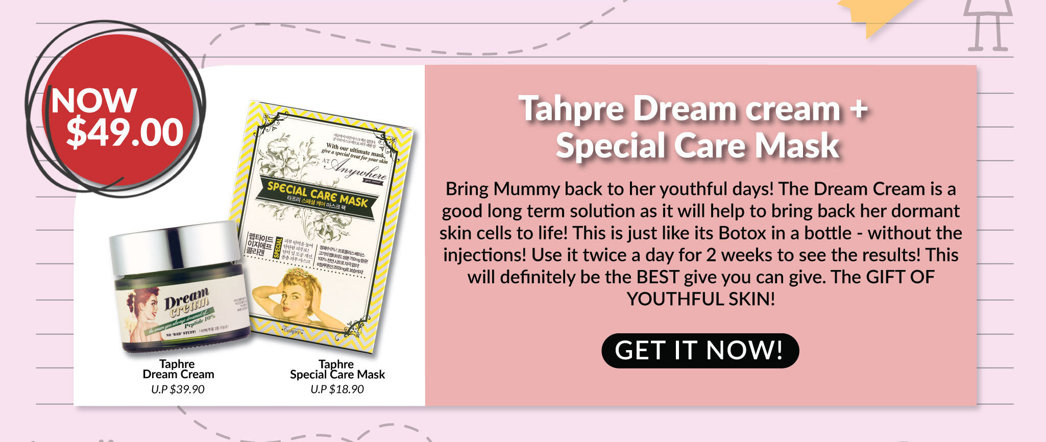 Tahpre Dream Cream + Special Care Mask Set