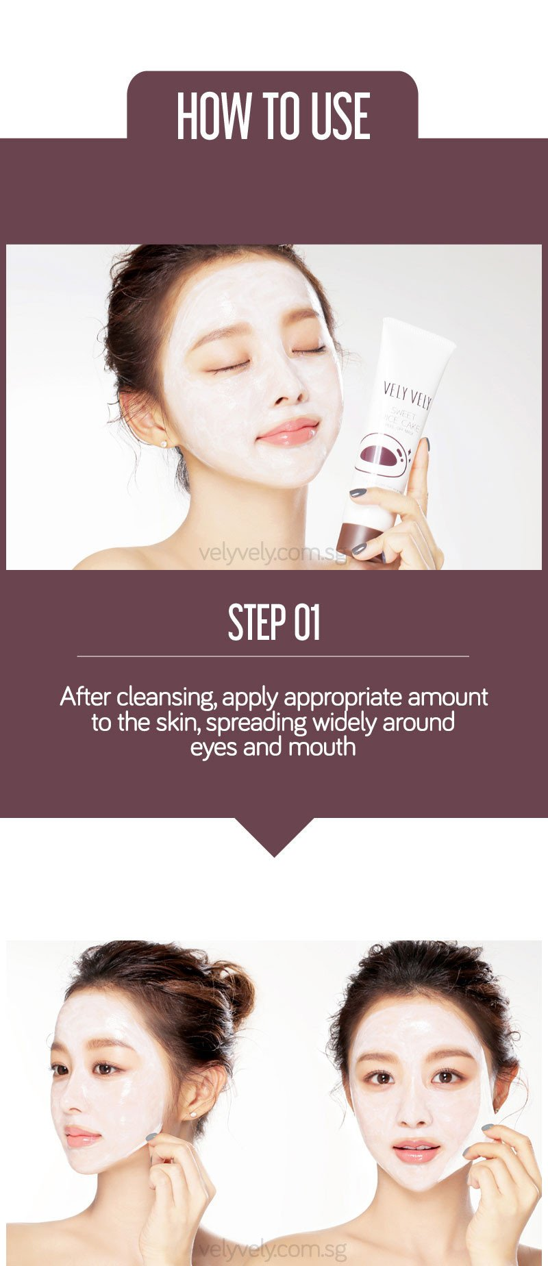 How to use Korea's Cosmetic Brand Vely Vely Sweet Rice Cake Peel-Off Mask