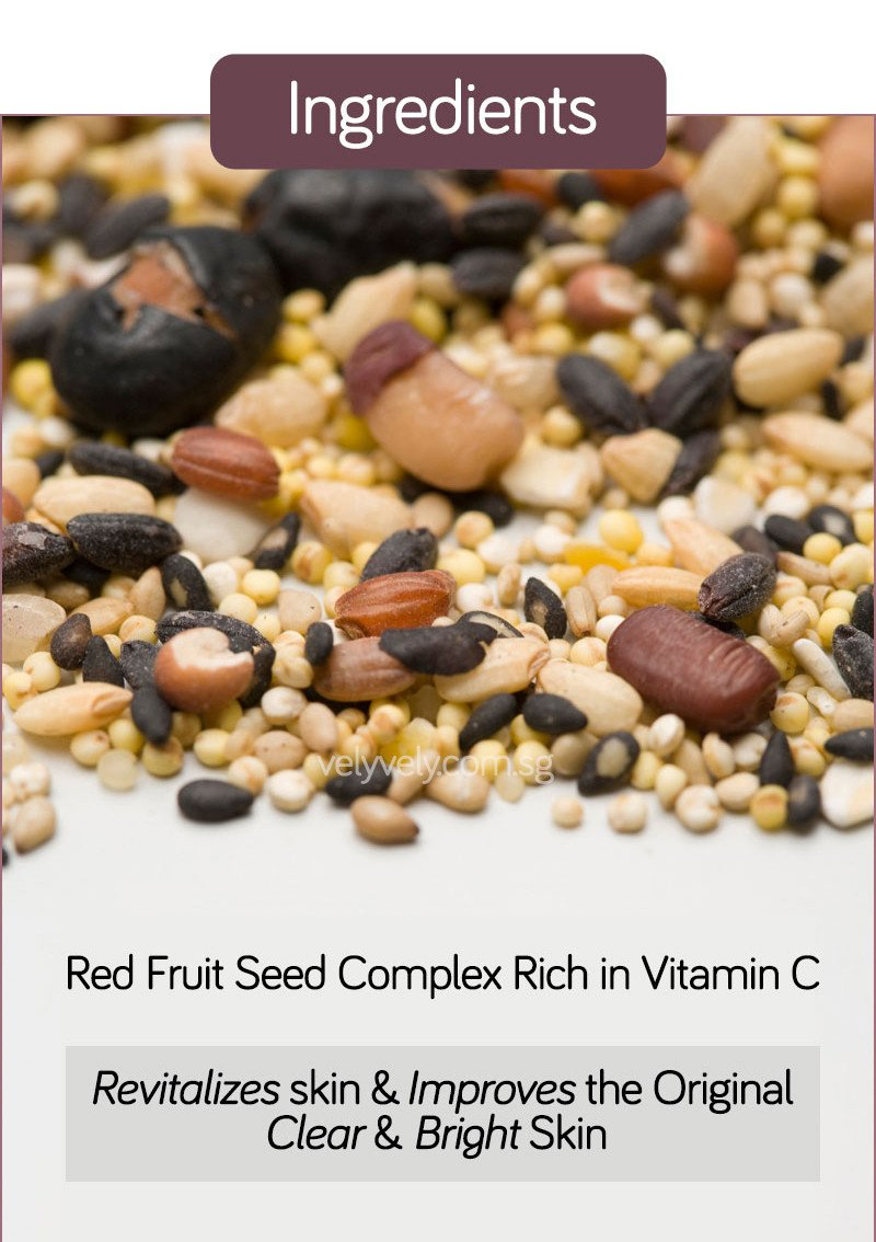 Ingredients in Korea's Cosmetic Brand, Vely Vely Sweet Rice Cake Peel-Off Mask - Red Fruit Seed Complex