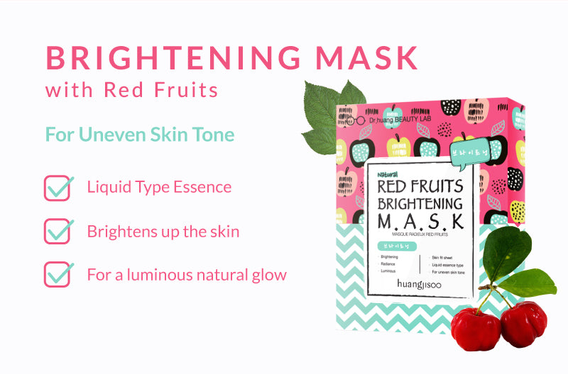 Brightening mask with Red Fruits! Essence Mask with whitening and brightening effect