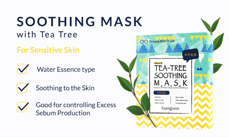 Soothing Mask with Tea Tree perfect for sensitive skin