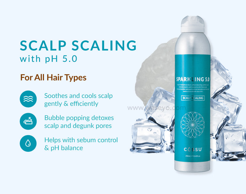 Introducing Cossu Scalp Scaling 5.0 for all hair types! Feel the bubbles popping giving you an experience like no other!