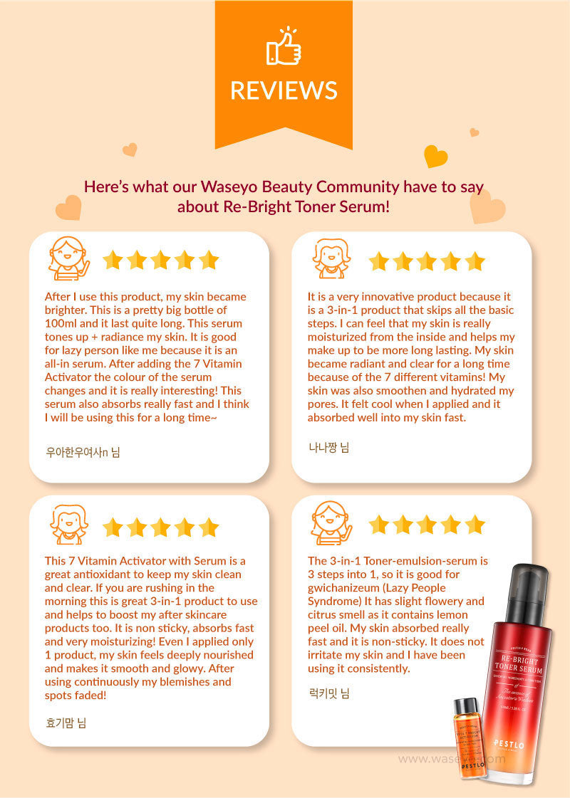 Take a look at the Reviews from our Beauty Community on the Toner Serum!