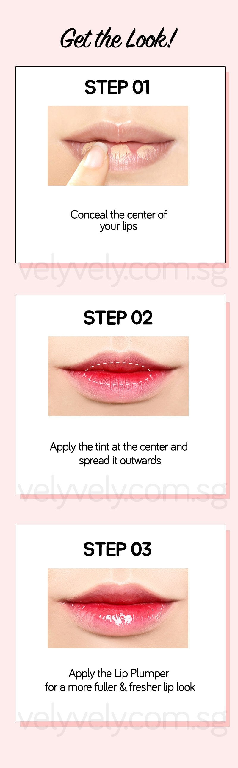Create a gradient lip with Korea's Cosmetic Brand, Vely Vely Water Tint Lip Pumping Duo