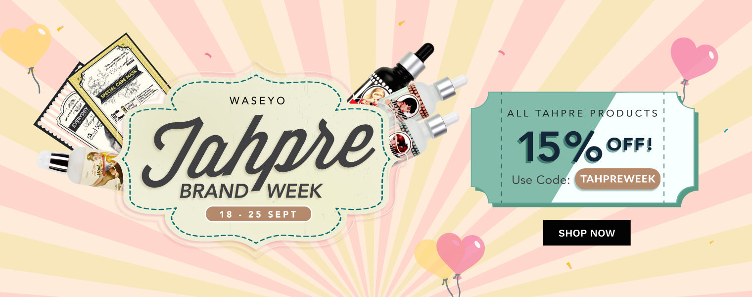 Tahpre Brand Week! 15% OFF ALL Tahpre Products!