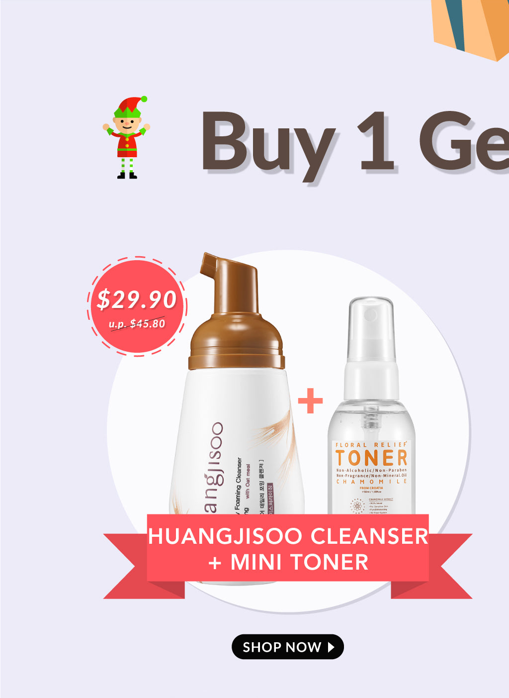 Buy 1 Huangjisoo Cleanser and Get 1 Deluxe Toner Free