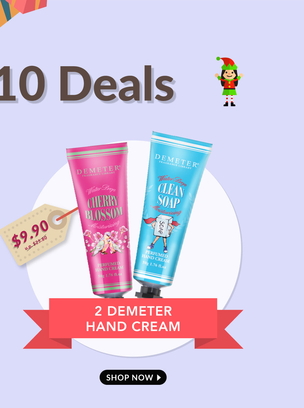 Demeter Hand Cream 2 For 9.90