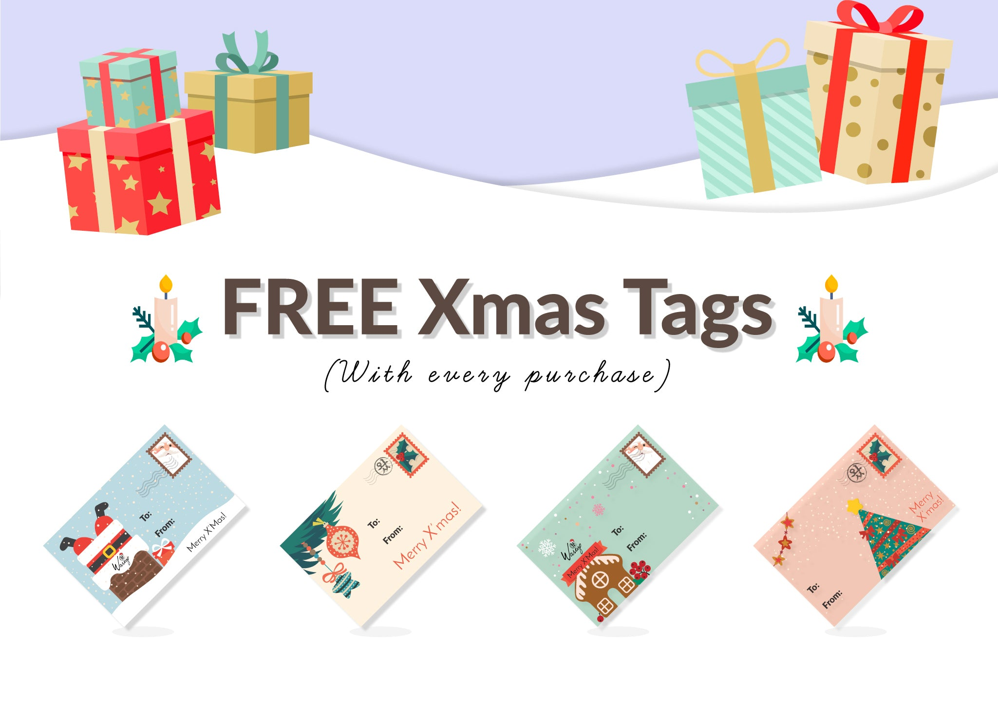 Free Xmas Gift Tags with every purchase!