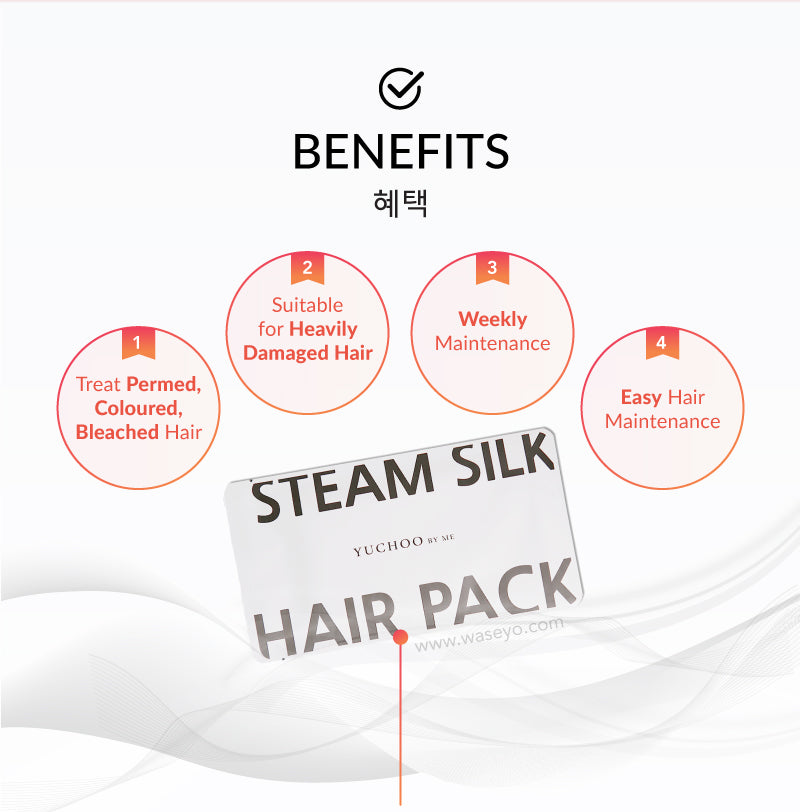 For damaged hair treatment. For permed, coloured and bleached hair.