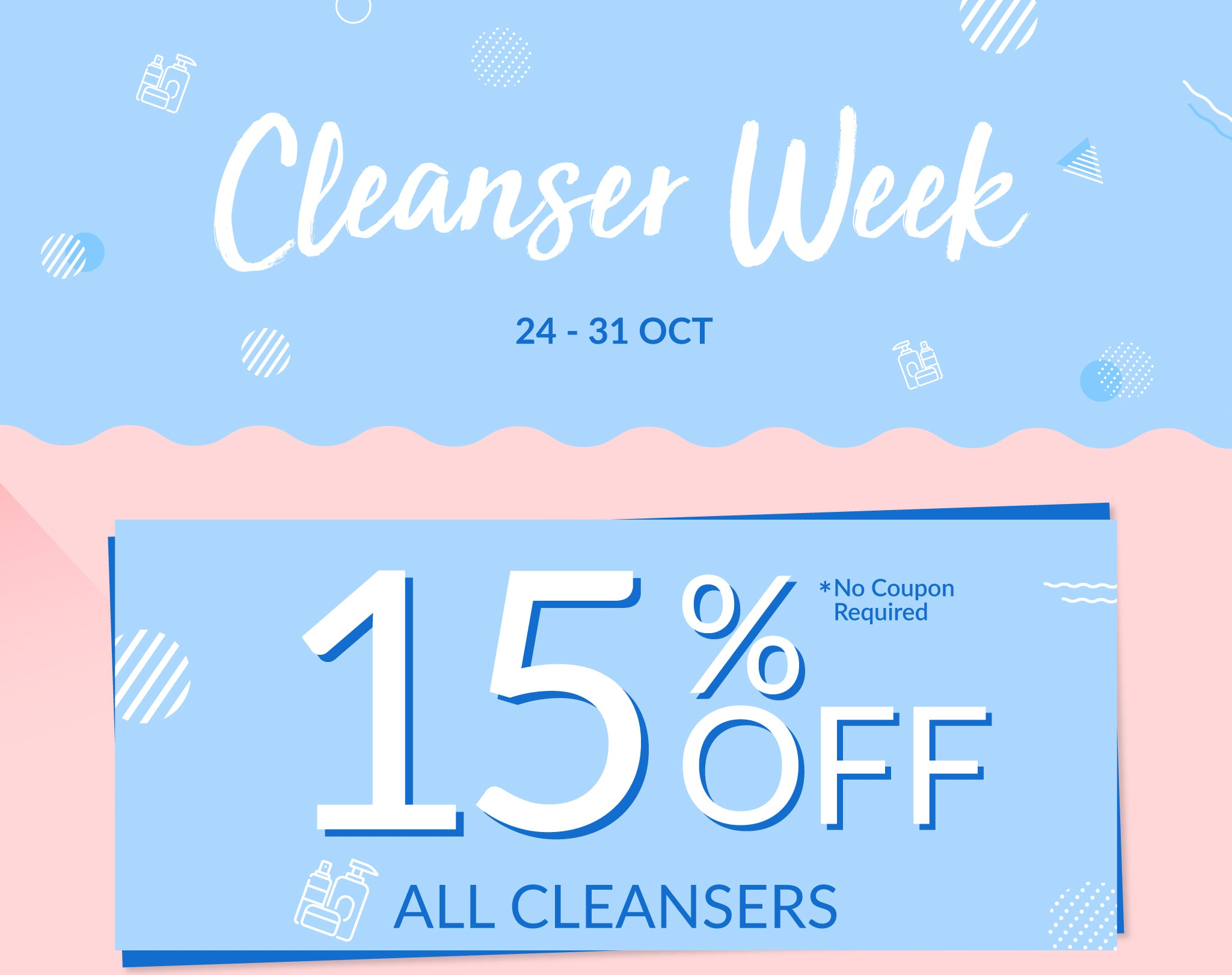 Waseyo Cleanser Week! 15% OFF ALL Cleansers