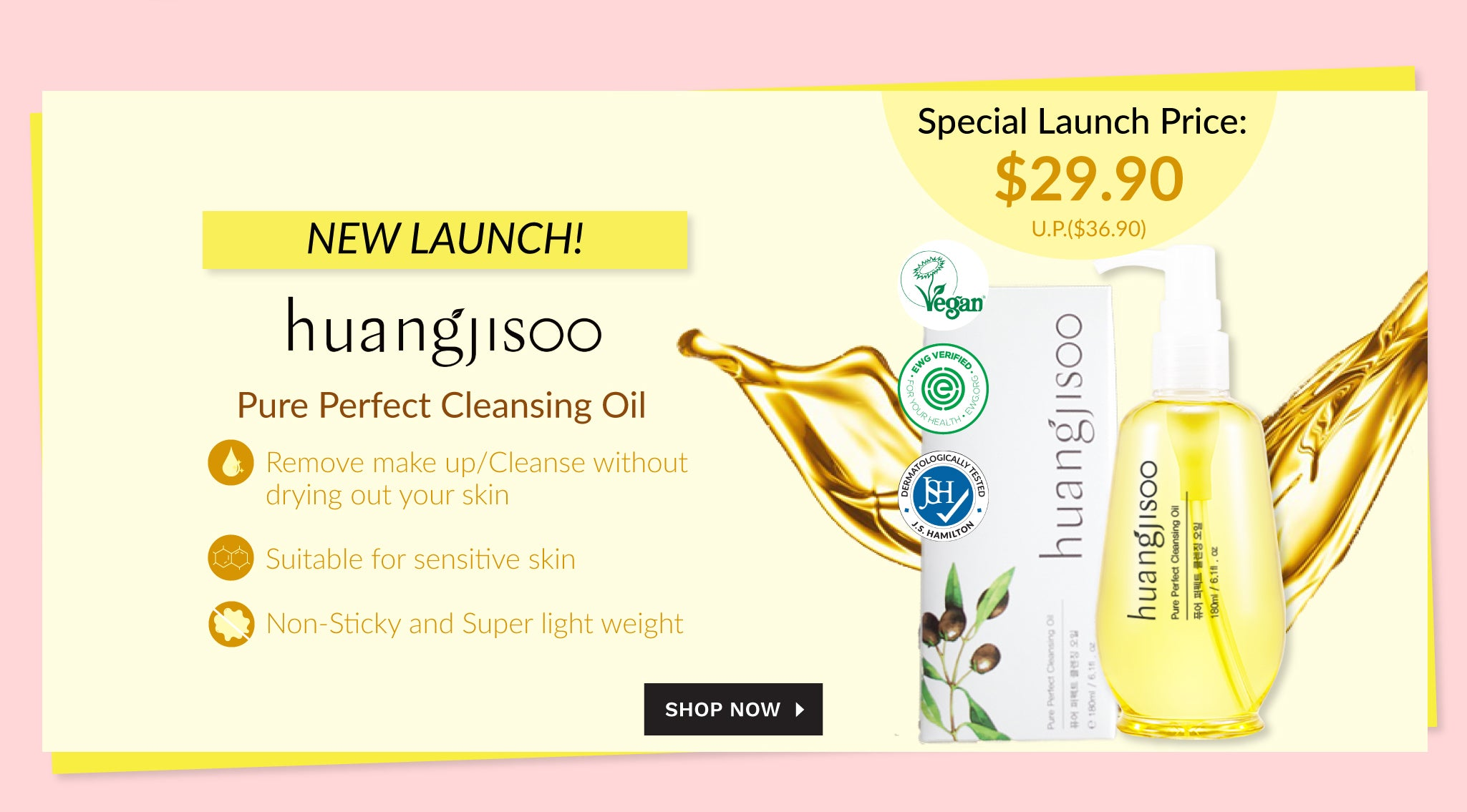 Huangjisoo New Launch! Pure Perfect Cleansing Oil