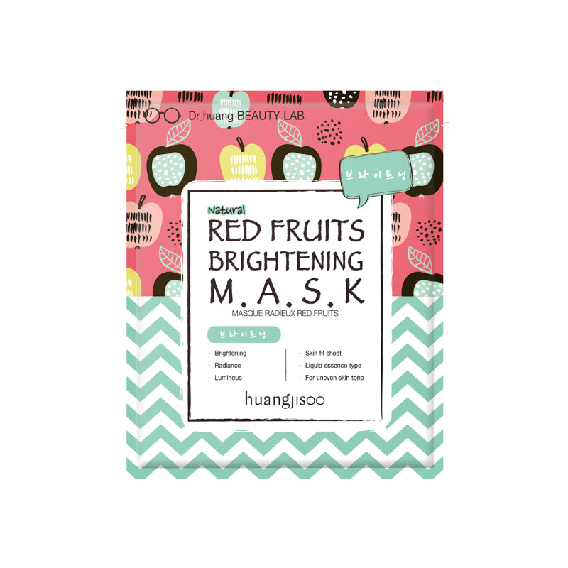 Huangjisoo Face Mask - Red Fruit Brightening Mask (Box of 5)